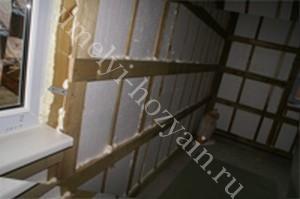 утепление-стен-деревянного-дома-изнутри-пенопластом