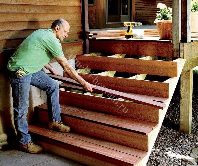 изготовить входную лестницу