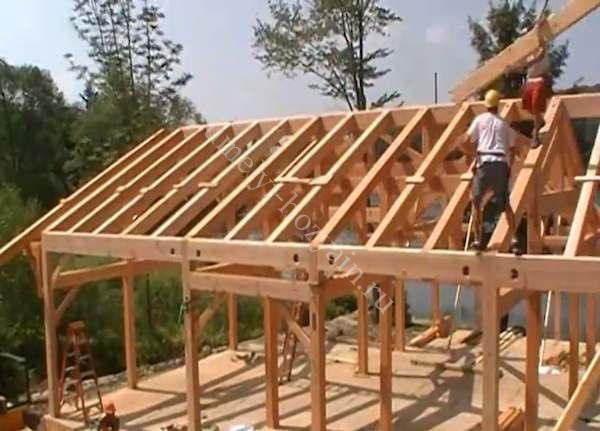 Сделать деревянный дом видео